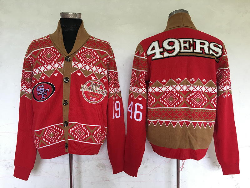 San Francisco 49ers NFL Adult Ugly Cardigan Sweater