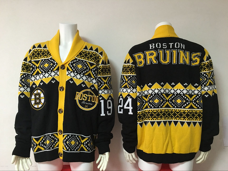 Boston Bruins NHL Adult Ugly Cardigan Sweater