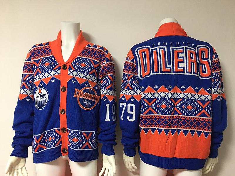 Edmonton Oilers NHL Adult Ugly Cardigan Sweater
