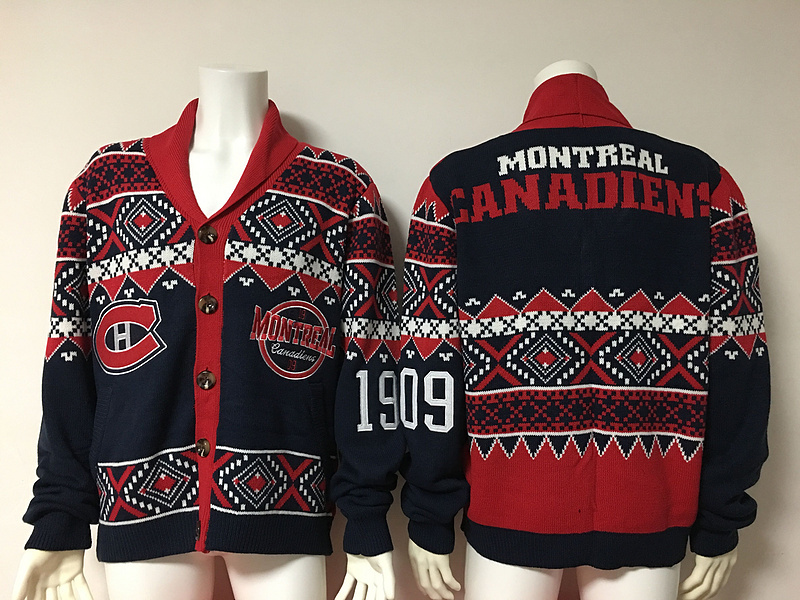 Montreal Canadiens NHL Adult Ugly Cardigan Sweater