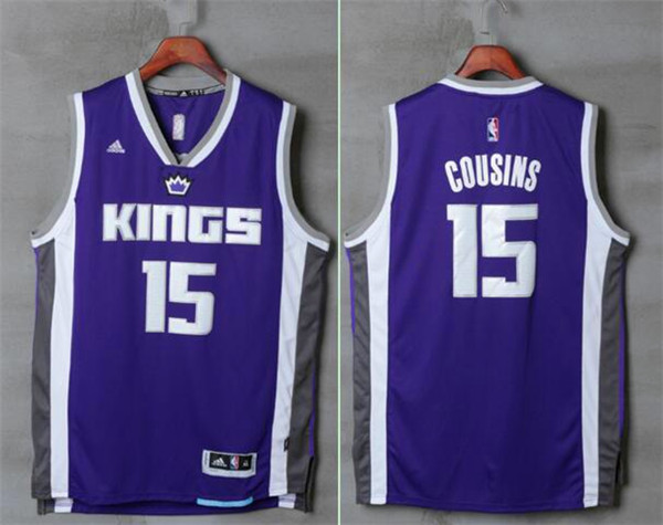 Kings 15 DeMarcus Cousins Purple Swingman Jersey