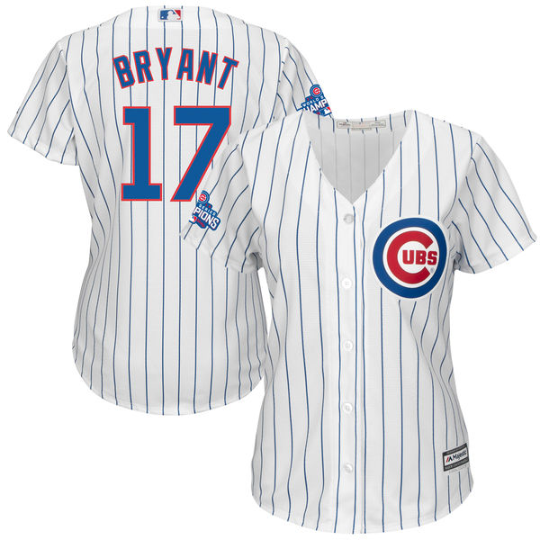 Cubs 17 Kris Bryant White 2016 World Series Champions Women New Cool Base Jersey