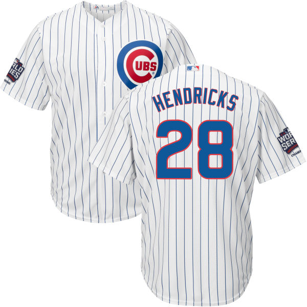 Cubs 28 Kyle Hendricks White 2016 World Series New Cool Base Jersey