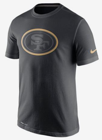 Nike 49ers Black Legend Logo Men's Short Sleeve T-Shirt