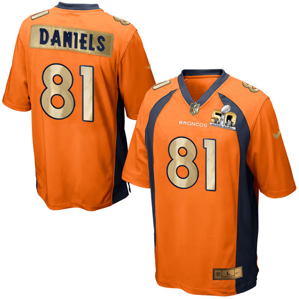 Nike Broncos 81 Owen Daniels Orange Super Bowl 50 Limited Jersey