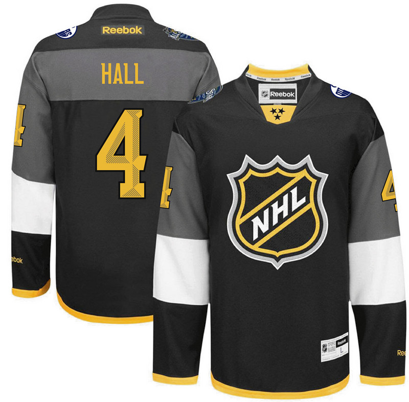 Oilers 4 Taylor Hall Black 2016 All-Star Premier Jersey