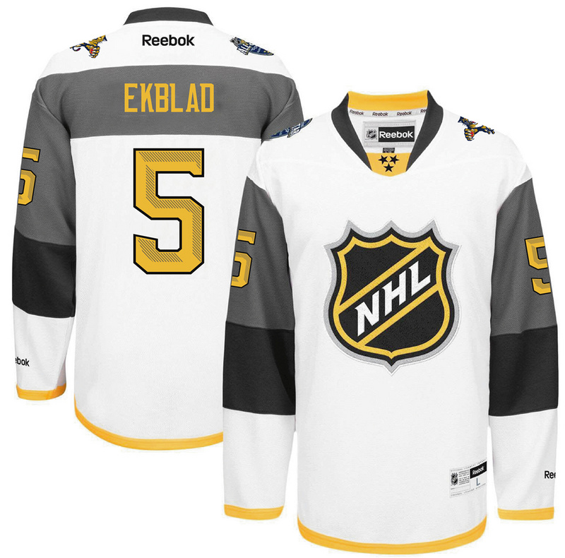 Panthers 5 Aaron Ekblad White 2016 All-Star Premier Jersey