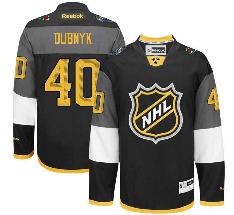 Wild 40 Devan Dubnyk Black 2016 All-Star Premier Jersey