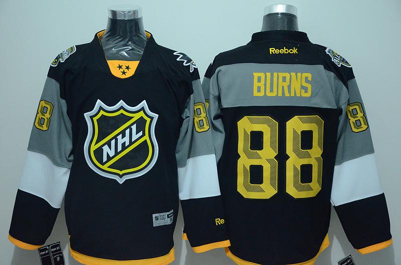 Sharks 88 Brent Burns Black 2016 All Star Premier Jersey
