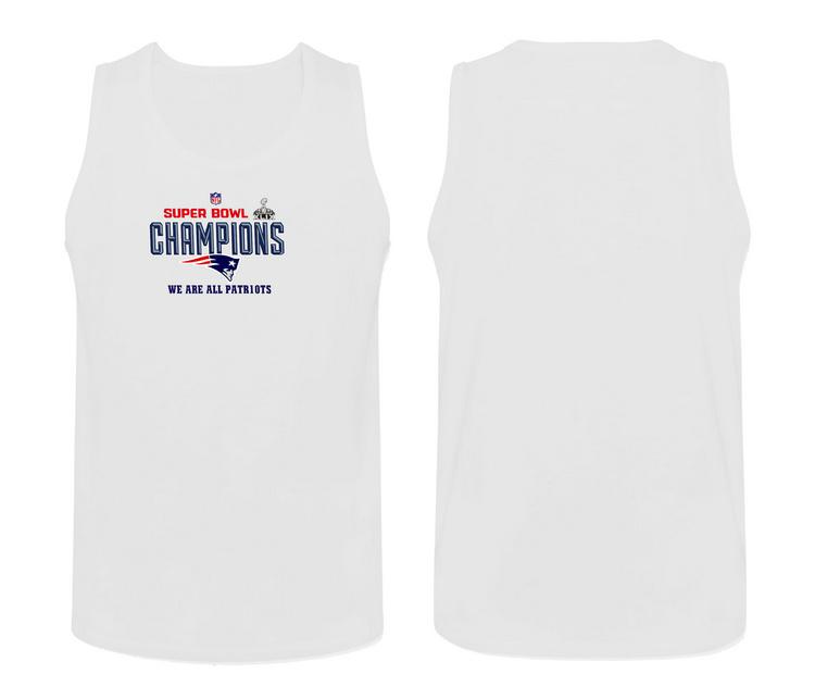 Nike New England Patriots Super Bowl Champions Men's Tank Top White