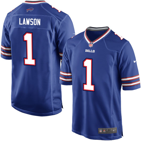 Nike Bills 1 Shaq Lawson Royal 2016 Draft Pick Elite Jersey
