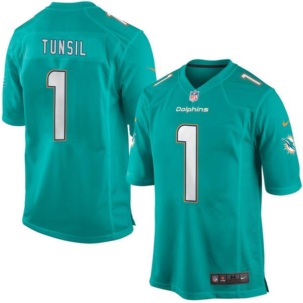 Nike Dolphins 1 Laremy Tunsil Aqua 2016 Draft Pick Elite Jersey