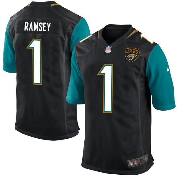 Nike Jaguars 1 Jalen Ramsey Black 2016 Draft Pick Elite Jersey