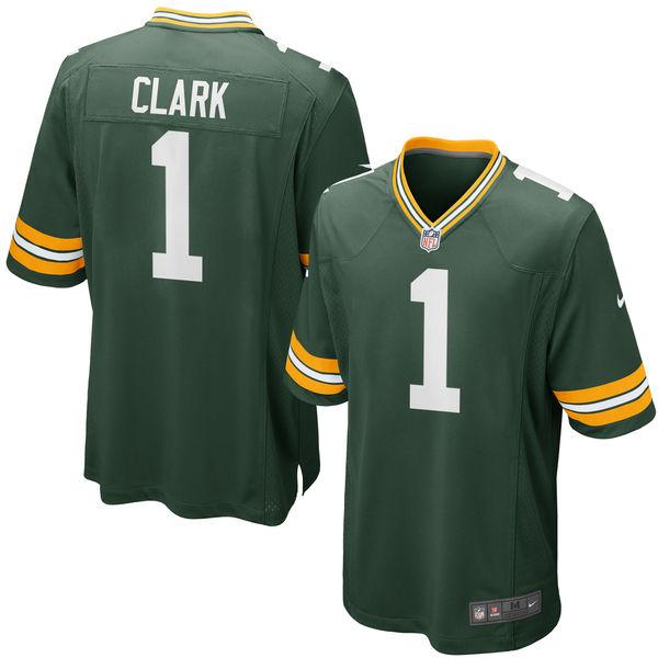 Nike Packers 1 Kenny Clark Green 2016 Draft Pick Elite Jersey
