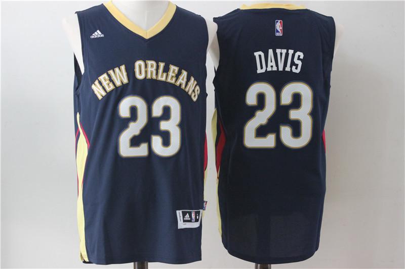 Pelicans 23 Anthony Davis Navy Blue Swingman Jersey