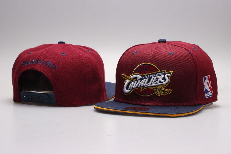 Cavaliers Wine Mitchell & Ness Adjustable Hat YP