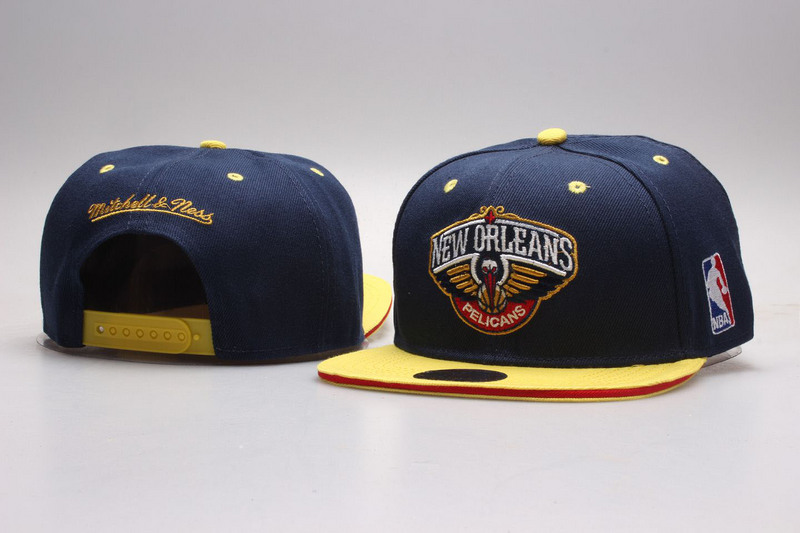 Pelicans Navy Mitchell & Ness Adjustable Hat YP