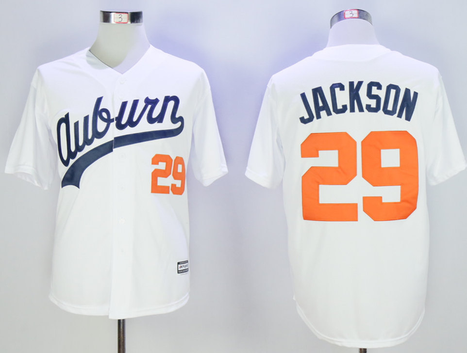 Auburn Tigers 29 Bo Jackson White New Cool Base Jersey