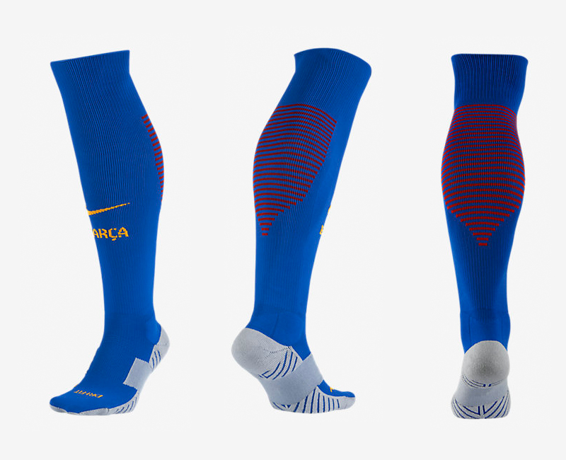 2016-17 Barcelona Blue Soccer Socks