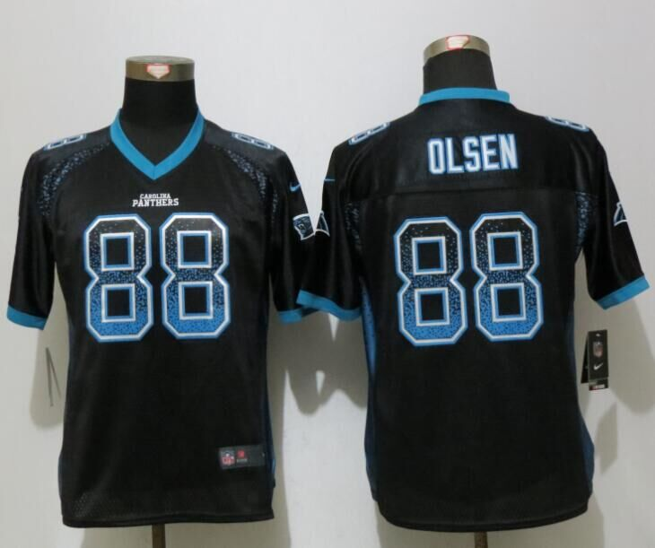 Nike Panthers 88 Greg Olsen Black Women Drift Fashion Jersey