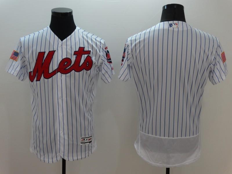 Mets Blank White Fashion Stars & Stripes Flexbase Jersey