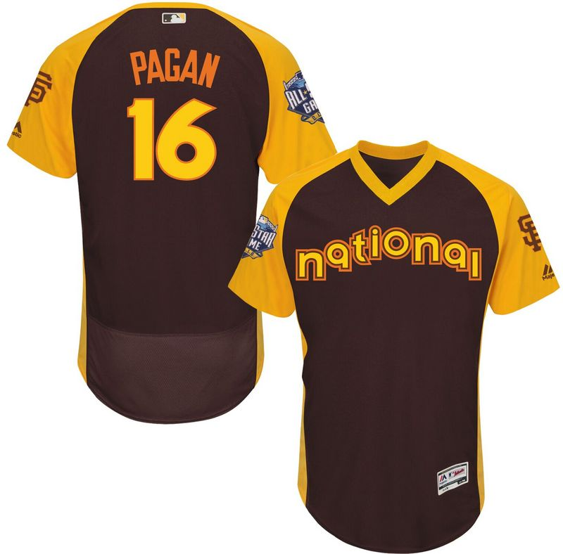 Giants 16 Angel Pagan Brown 2016 All-Star Game Cool Base Batting Practice Player Jersey