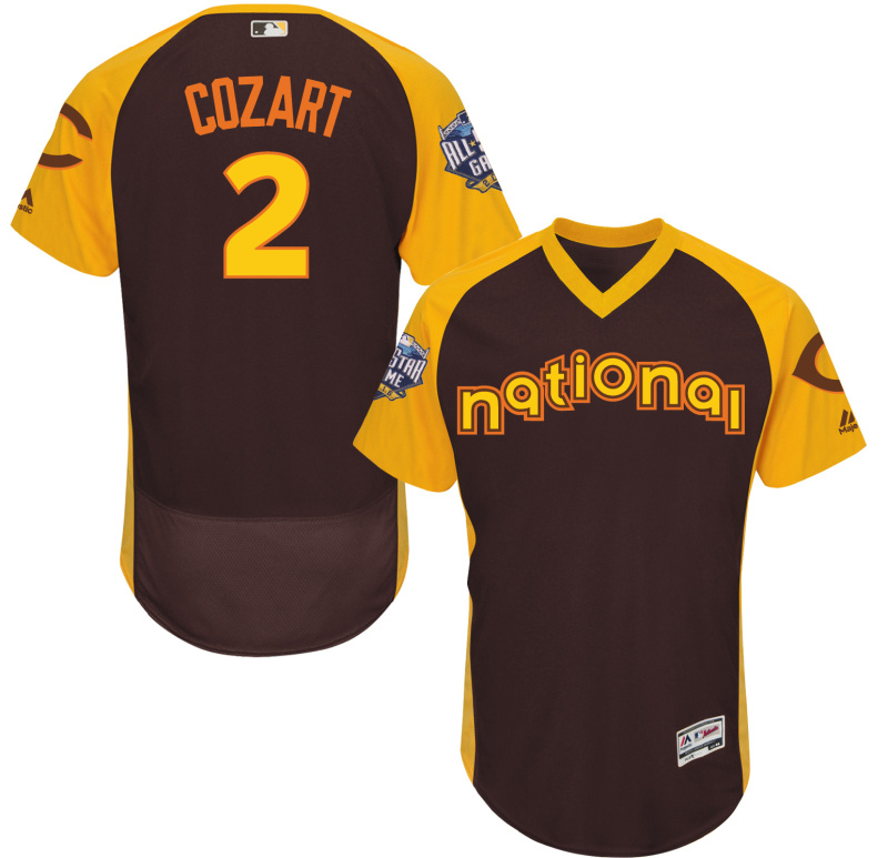 Reds 2 Zack Cozart Brown 2016 All-Star Game Cool Base Batting Practice Player Jersey