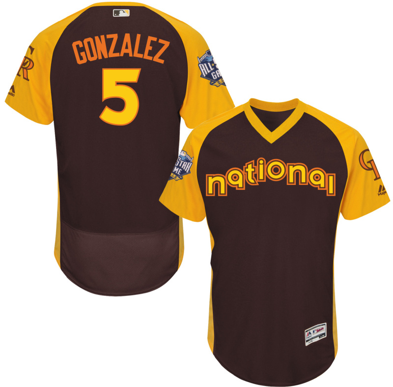 Rockies 5 Carlos Gonzalez 2016 All-Star Game Cool Base Batting Practice Player Jersey