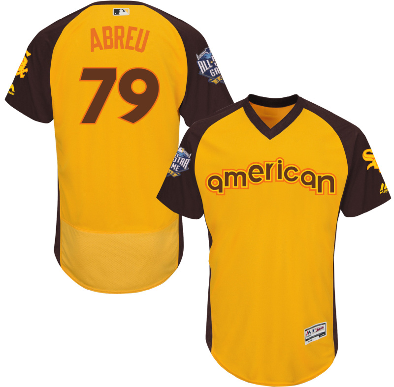 White Sox 79 Jose Abreu Yellow 2016 All-Star Game Cool Base Batting Practice Player Jersey