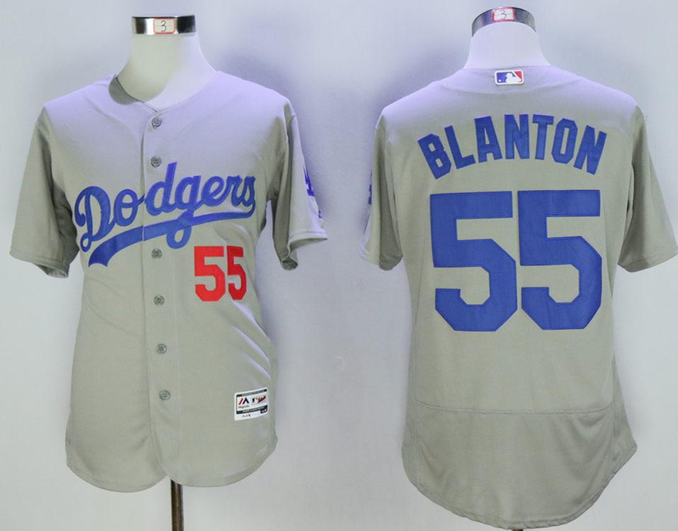 Dodgers 55 Joe Blanton Grey Flexbase Jersey