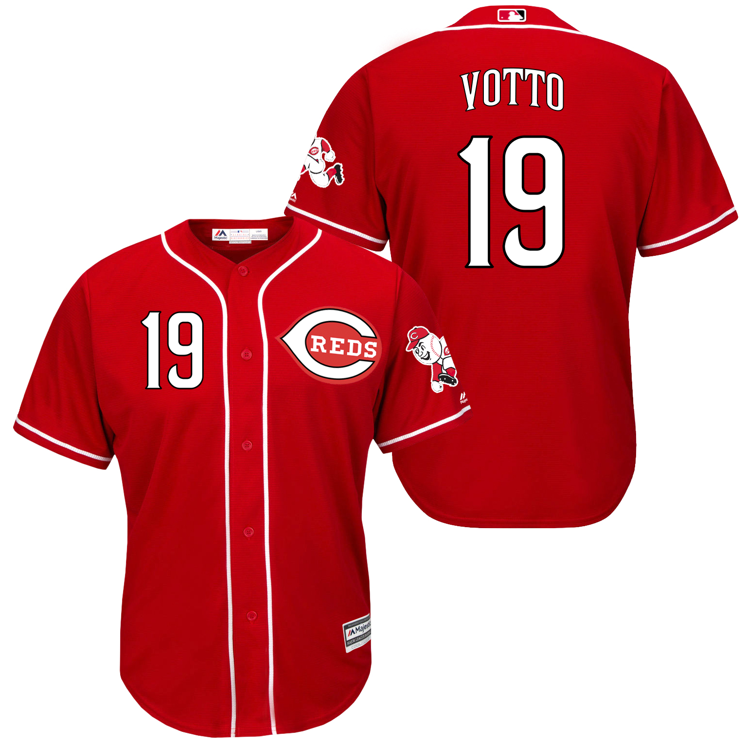 Reds 19 Joey Votto Red New Cool Base Jersey