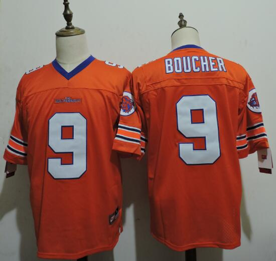 The Waterboy Mud Dogs 9 Bobby Boucher Orange Football Jersey