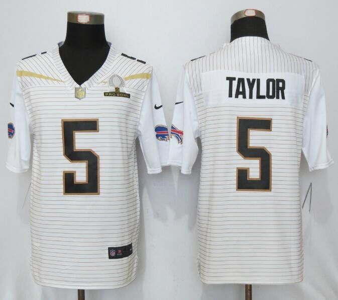 Nike Bills 5 Tyrod Taylor White 2016 Pro Bowl Elite Jersey