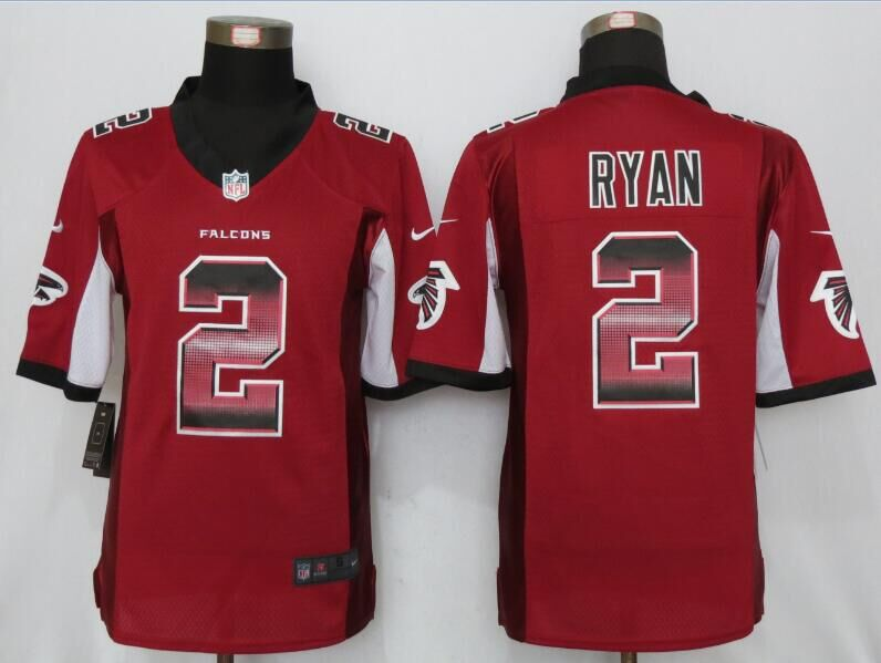 Nike Falcons 2 Matt Ryan Red Pro Line Fashion Strobe Limited Jersey
