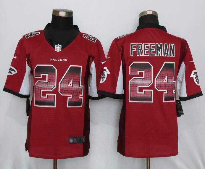 Nike Falcons 24 Devonta Freeman Red Pro Line Fashion Strobe Limited Jersey