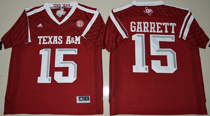Texas A&M Aggies 15 Myles Garrett Red College Football Jersey