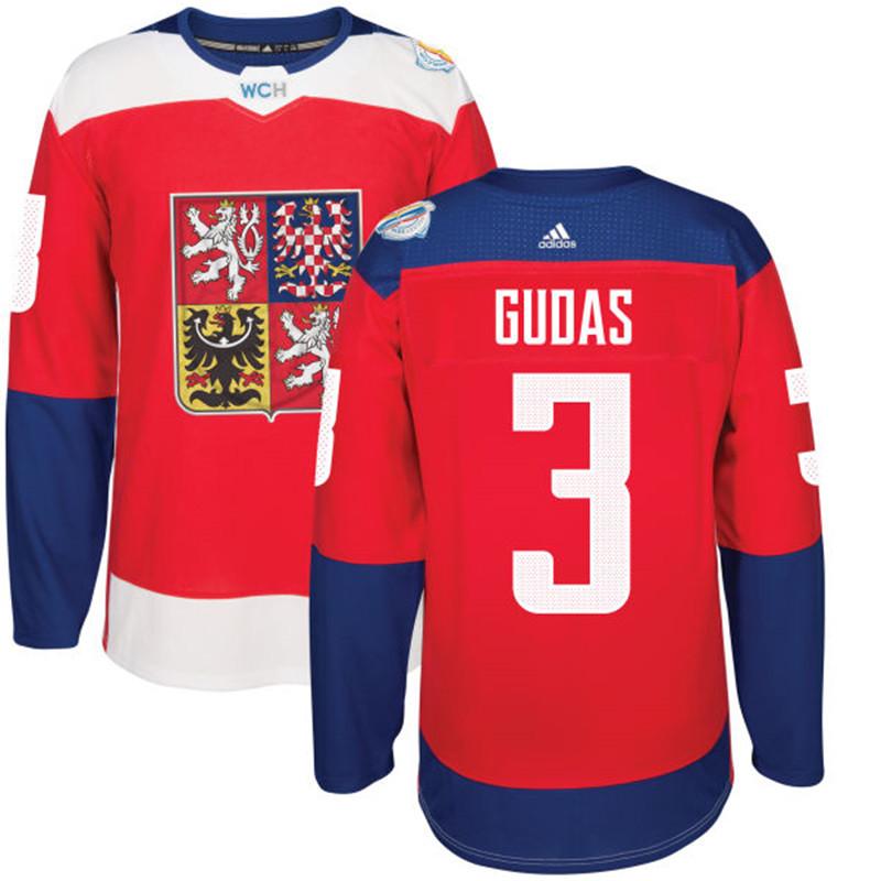 Czech Republic 3 Radko Gudas Red 2016 World Cup Of Hockey Premier Player Jersey