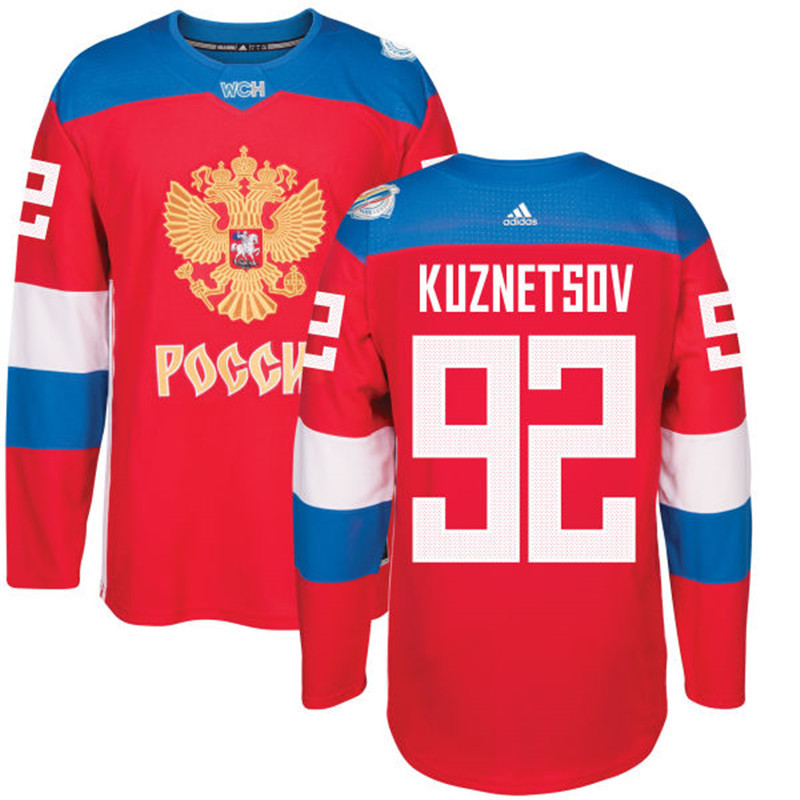 Russia 92 Evgeny Kuznetsov Red 2016 World Cup Of Hockey Premier Player Jersey