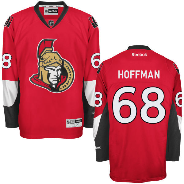 Senators 68 Mike Hoffman Red Reebok Premier Jersey