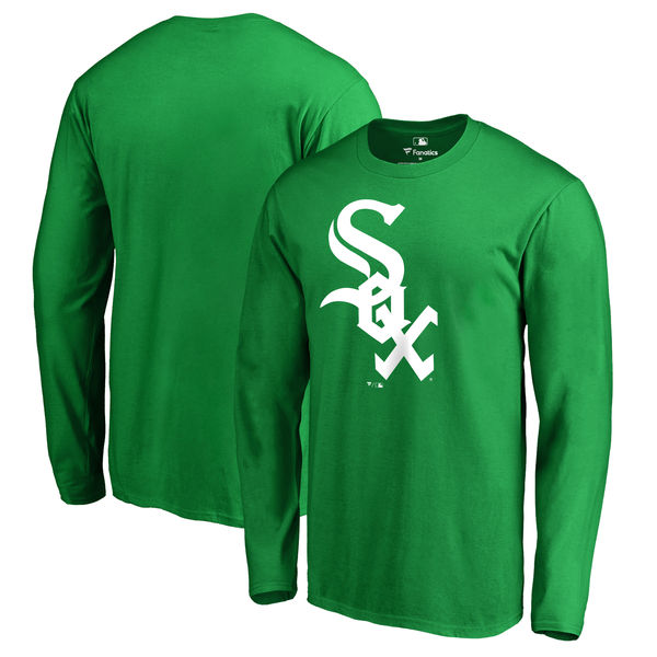 Men's Chicago White Sox Fanatics Branded Kelly Green St. Patrick's Day White Logo Long Sleeve T-Shirt