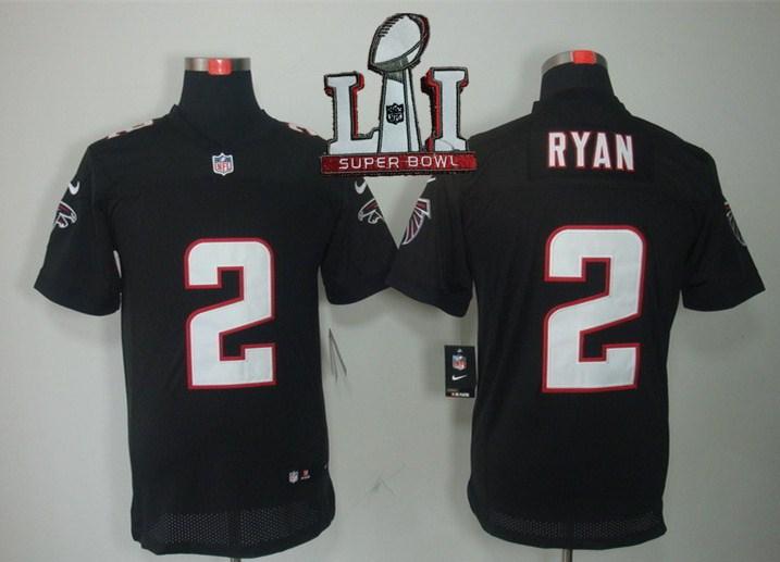 Nike Falcons 2 Matt Ryan Black 2017 Super Bowl LI Elite Jersey