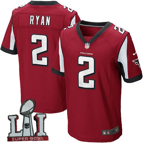 Nike Falcons 2 Matt Ryan Red 2017 Super Bowl LI Elite Jersey