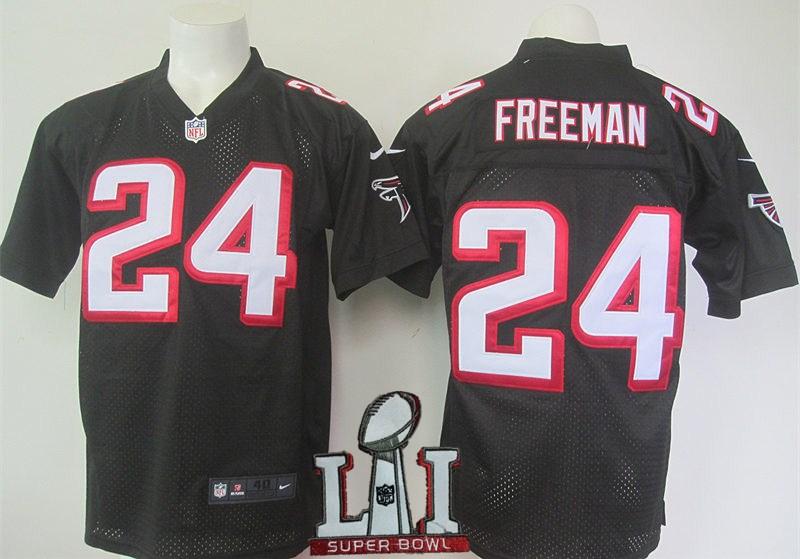 Nike Falcons 24 Devonta Freeman Black 2017 Super Bowl LI Elite Jersey
