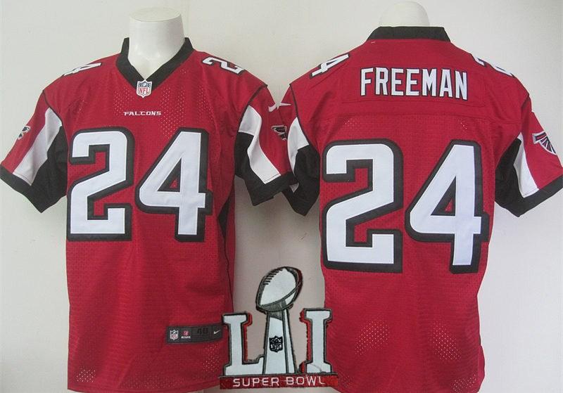 Nike Falcons 24 Devonta Freeman Red 2017 Super Bowl LI Elite Jersey