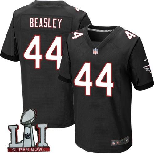 Nike Falcons 44 Vic Beasley Black 2017 Super Bowl LI Elite Jersey