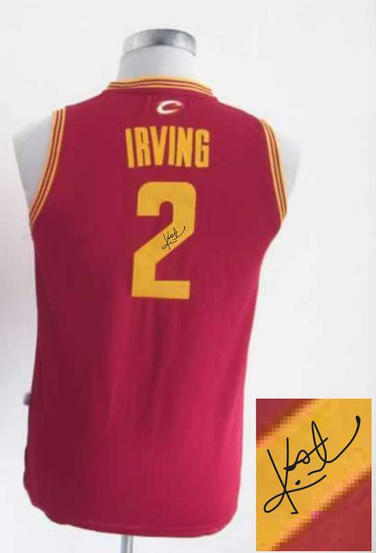 Cavaliers 2 Irving Red Signature Edition Women Jerseys