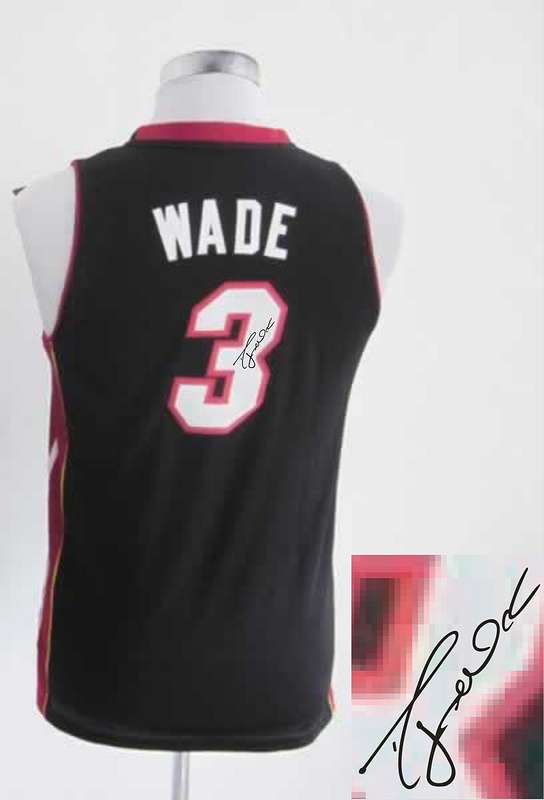 Heat 3 Wade Black Signature Edition Women Jerseys