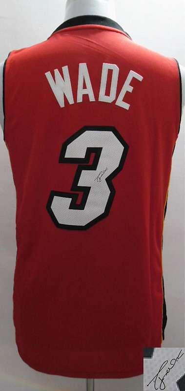 Heat 3 Wade Red Signature Edition Women Jerseys