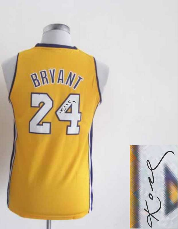 Lakers 24 Bryant Gold Signature Edition Women Jerseys