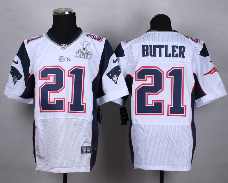 Nike Patriots 21 Butler White 2015 Super Bowl XLIX Elite Jerseys